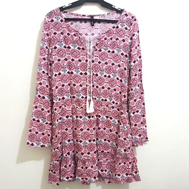 H&M DIVIDED BOHO DRESS