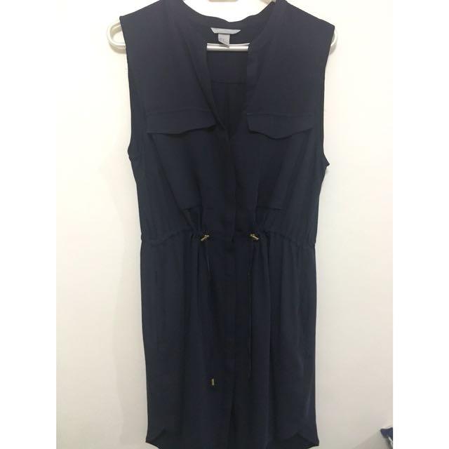 H&M Navy blue shift dress