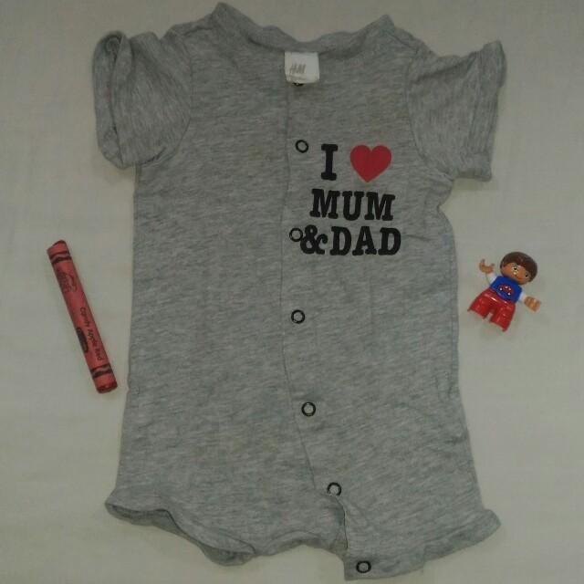H&M Onesie for Baby Boys, Size newborn to 3mos.