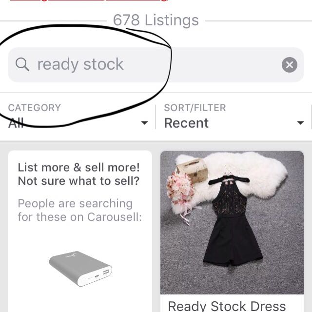 How to view ready stock items