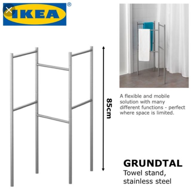 ikea grundtal towel stand furniture others on carousell. Black Bedroom Furniture Sets. Home Design Ideas
