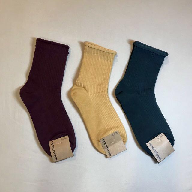 Kikiyasocks 正韓 素色長襪