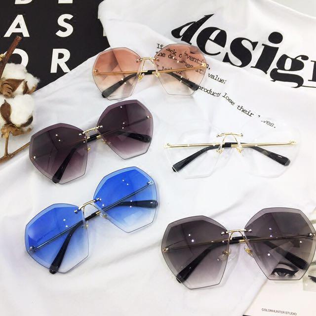 Korean Frameless Oversized Trendy Sunglasses