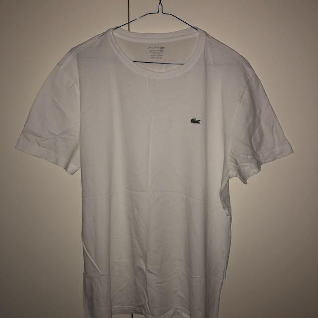 Lacoste white tshirt