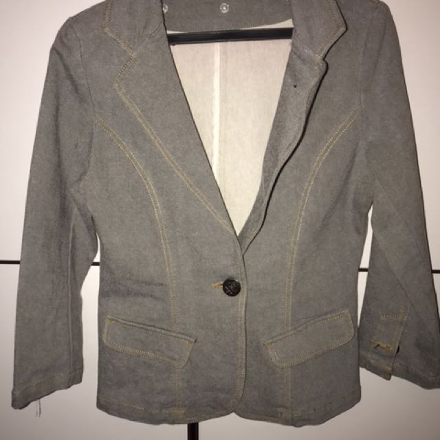Light Gray Maong Blazer