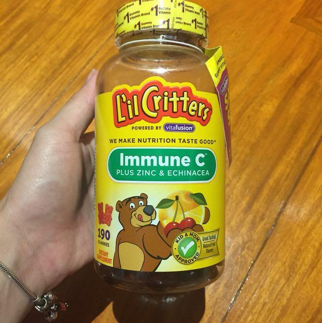 Lil critters immune c plus zinc