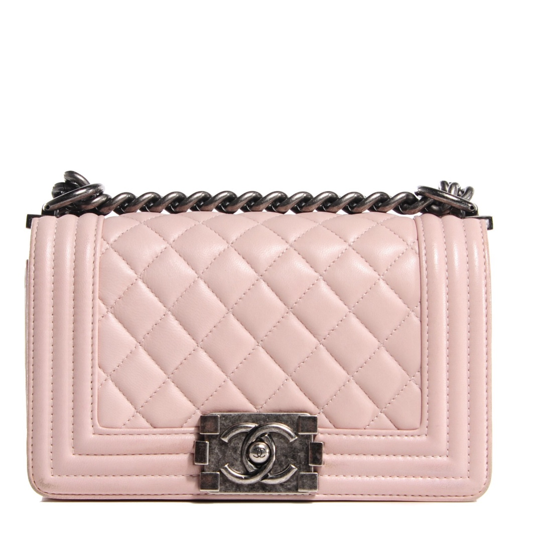 Limited Edition Chanel Le Boy Calfskin Light Pink rosegold