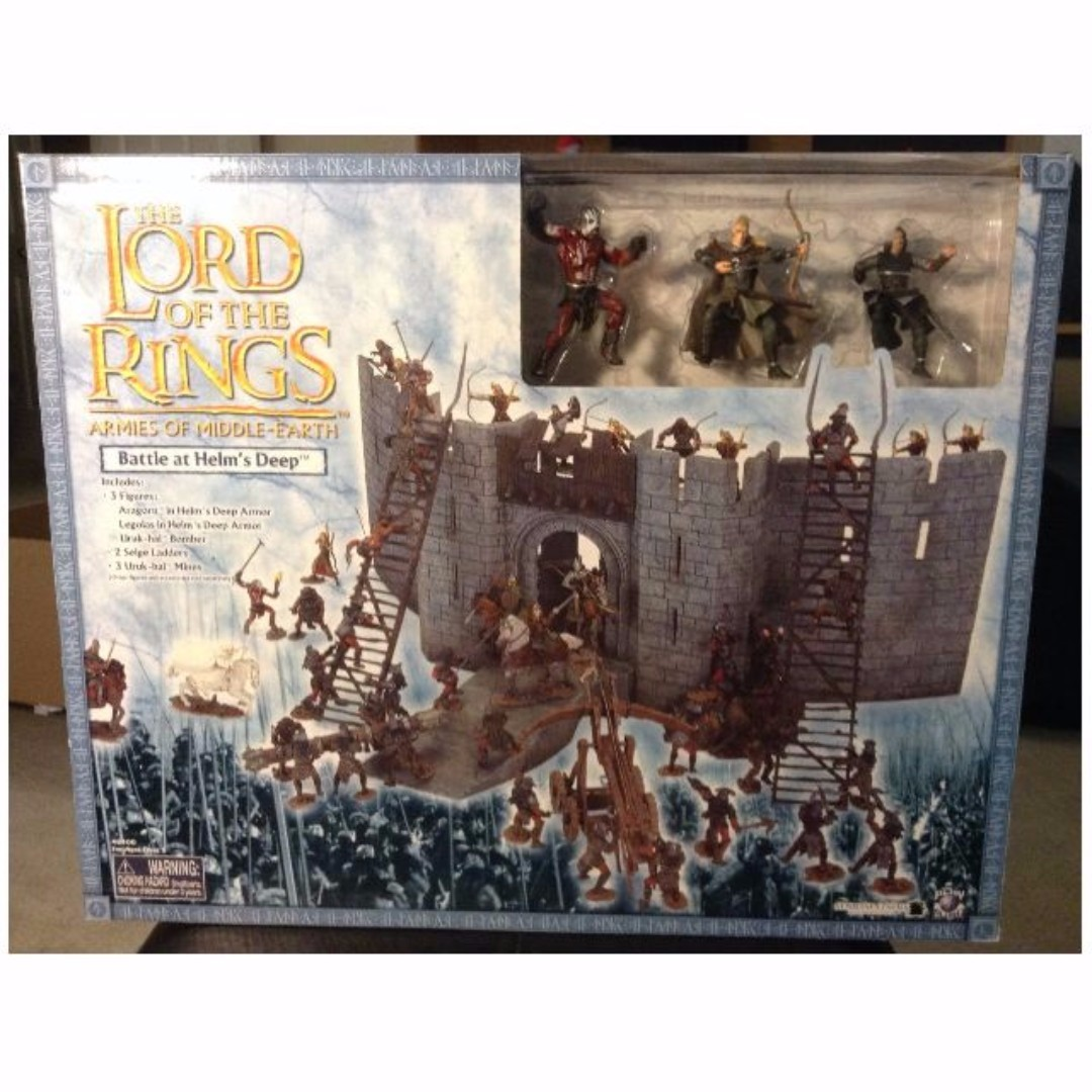 LOTR AOME Helm's Deep castle playset lord of the rings attack middle earth