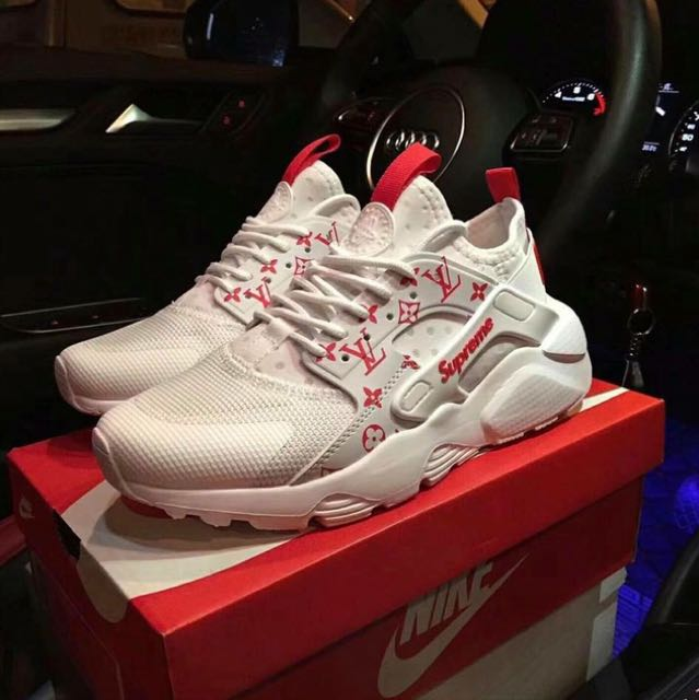 Louis Vuitton X supreme Nike huarache altra, Luxury, Apparel on Carousell