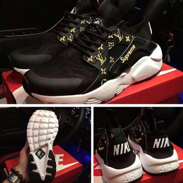Louis Vuitton X supreme Nike huarache run ultra, Luxury, Accessories on  Carousell ... 43a7a2b13cc9