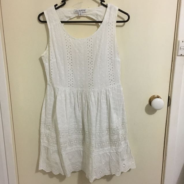Lulu and Rose white dress size S