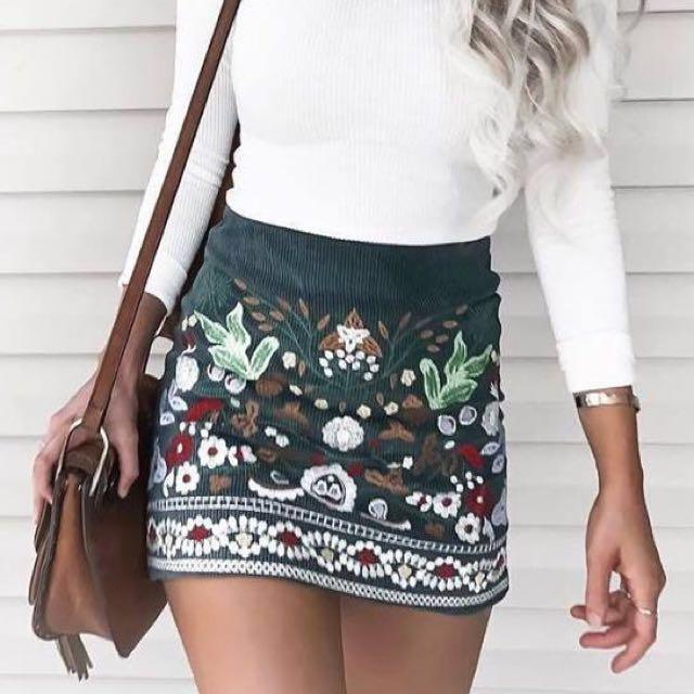 Mango inspired Denim skirt