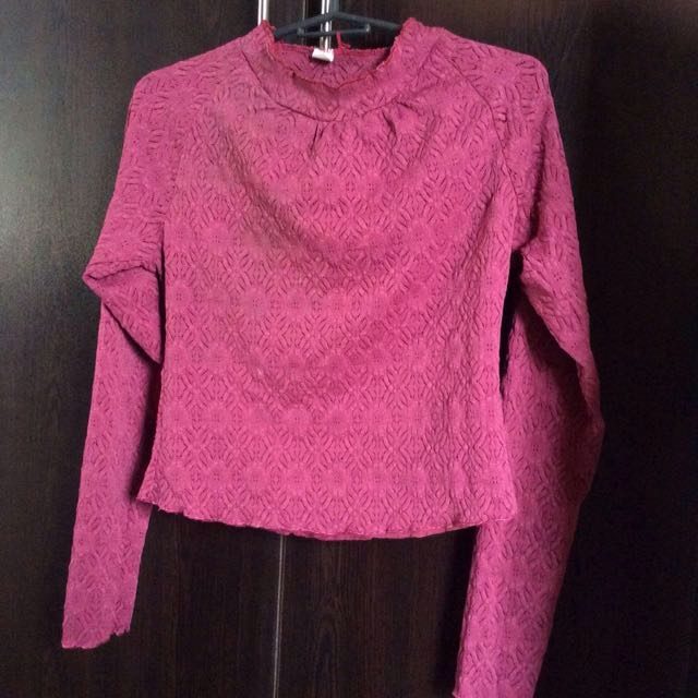 Maroon lace top (included in 3 for 100 in my profile)