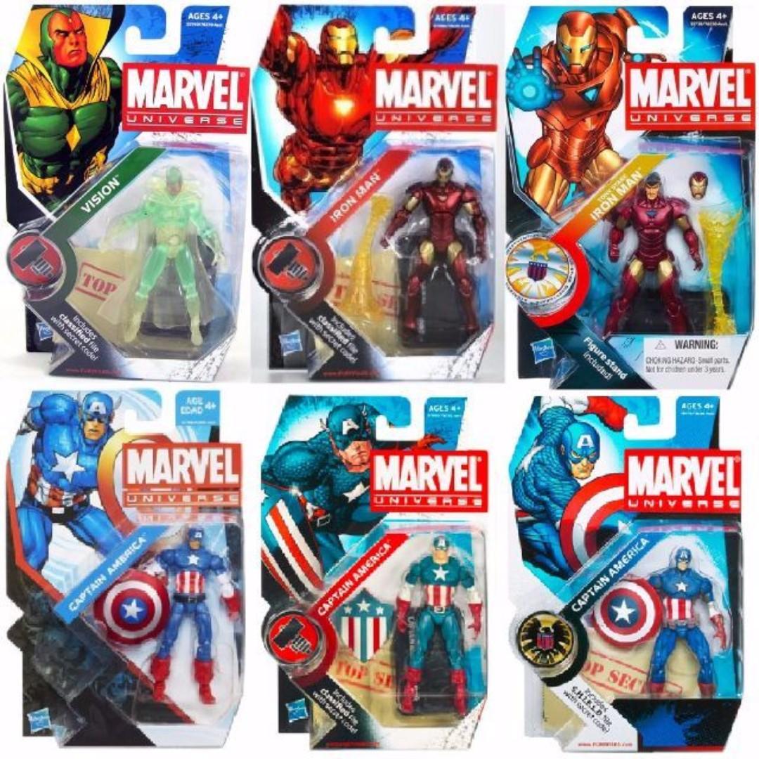 Marvel Universe Avengers Iron Man X-men Hulk refer to list