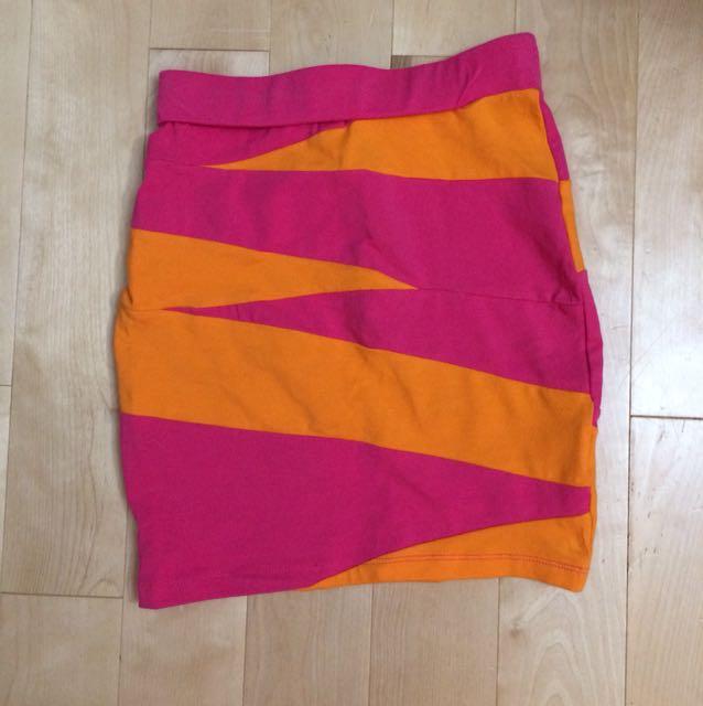 Material Girl Stripe Pink Tight Skirt