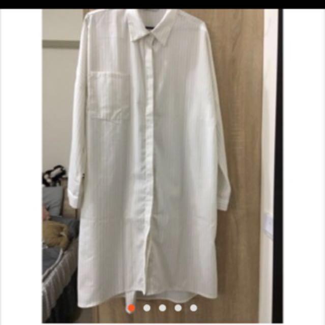 (私物)meierq直條紋長襯衫