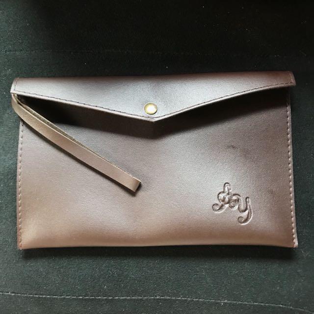 Mini clutch (dark brown)