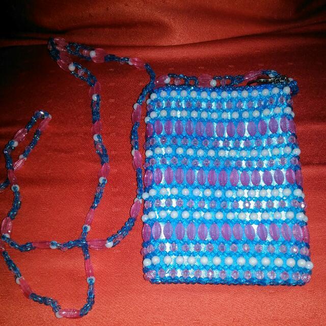 Mini Sling Bag made of Beads