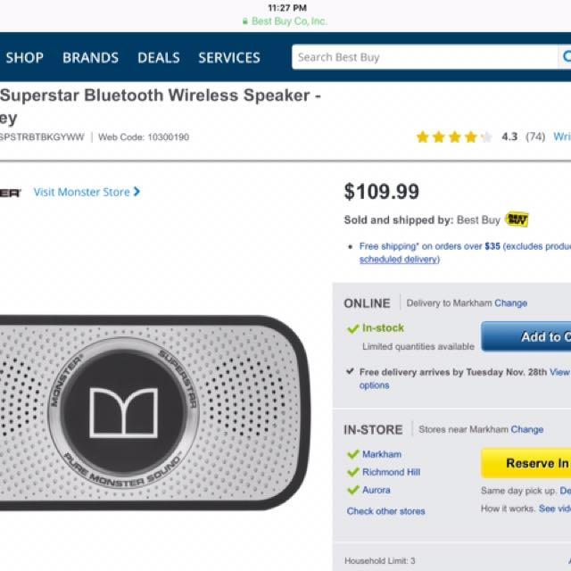 Monster Superstar speakers