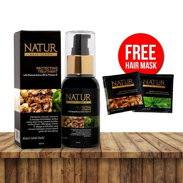 Natur hair protecting serum + free masks