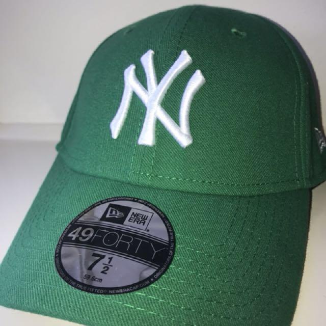 d2ce7e351da New Era NY Cap Green White