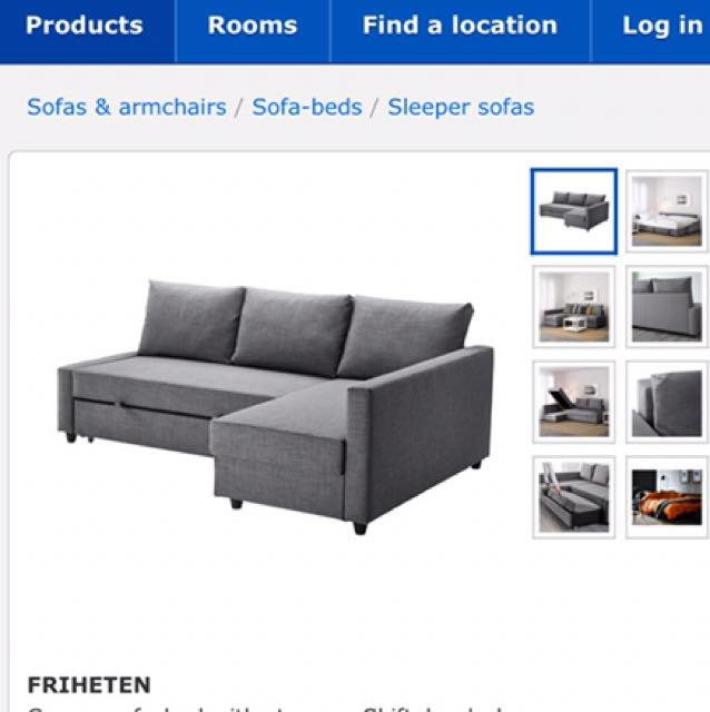 New Ikea Sofa Bed with Storage