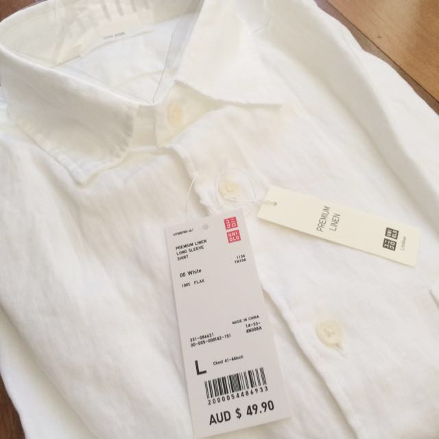 NEW Men's Linen Dress Shirt