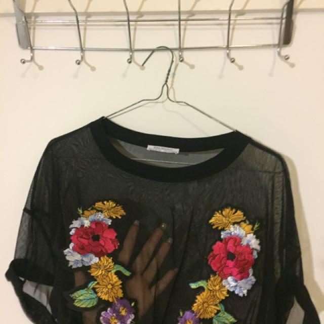 NEW Sheer mesh top Zara