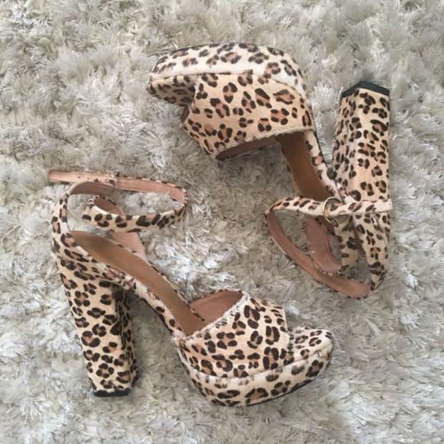 Nicholas Pony Skin Heels - 7
