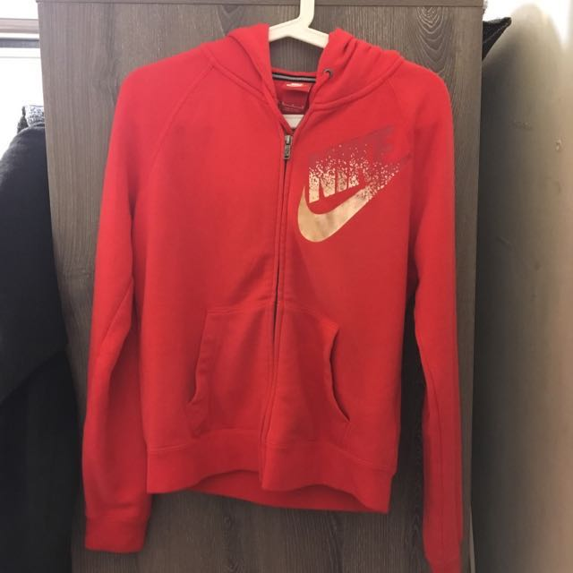 Nike橘紅棉質運動外套