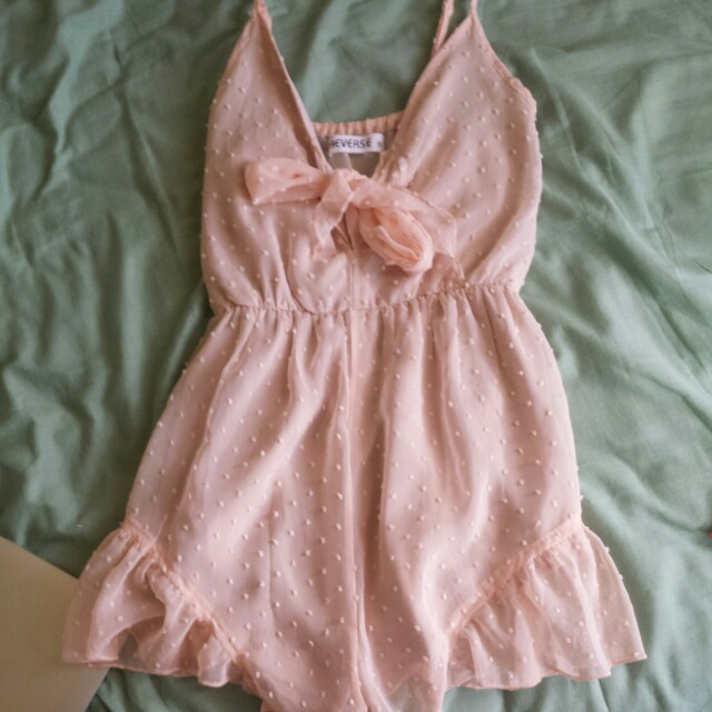 Nude pink playsuit