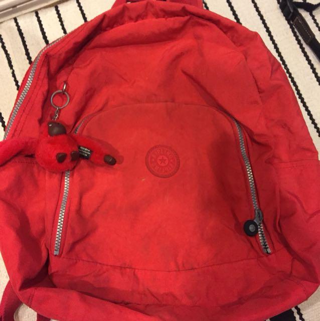 Original Kipling waterproof backpack red