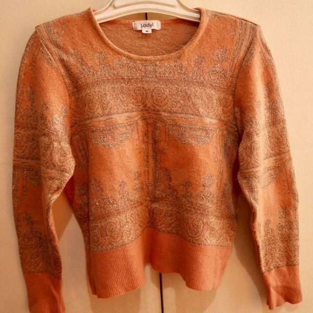 Peach Cute Sweater