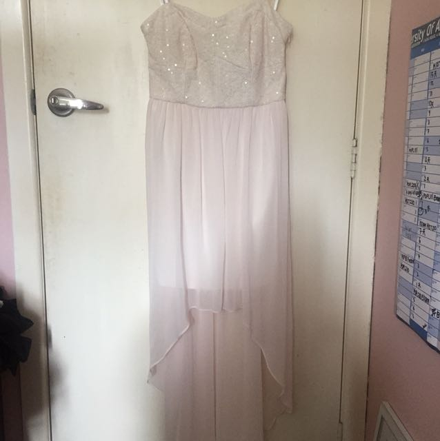 Pink high low ball dress -Forever New