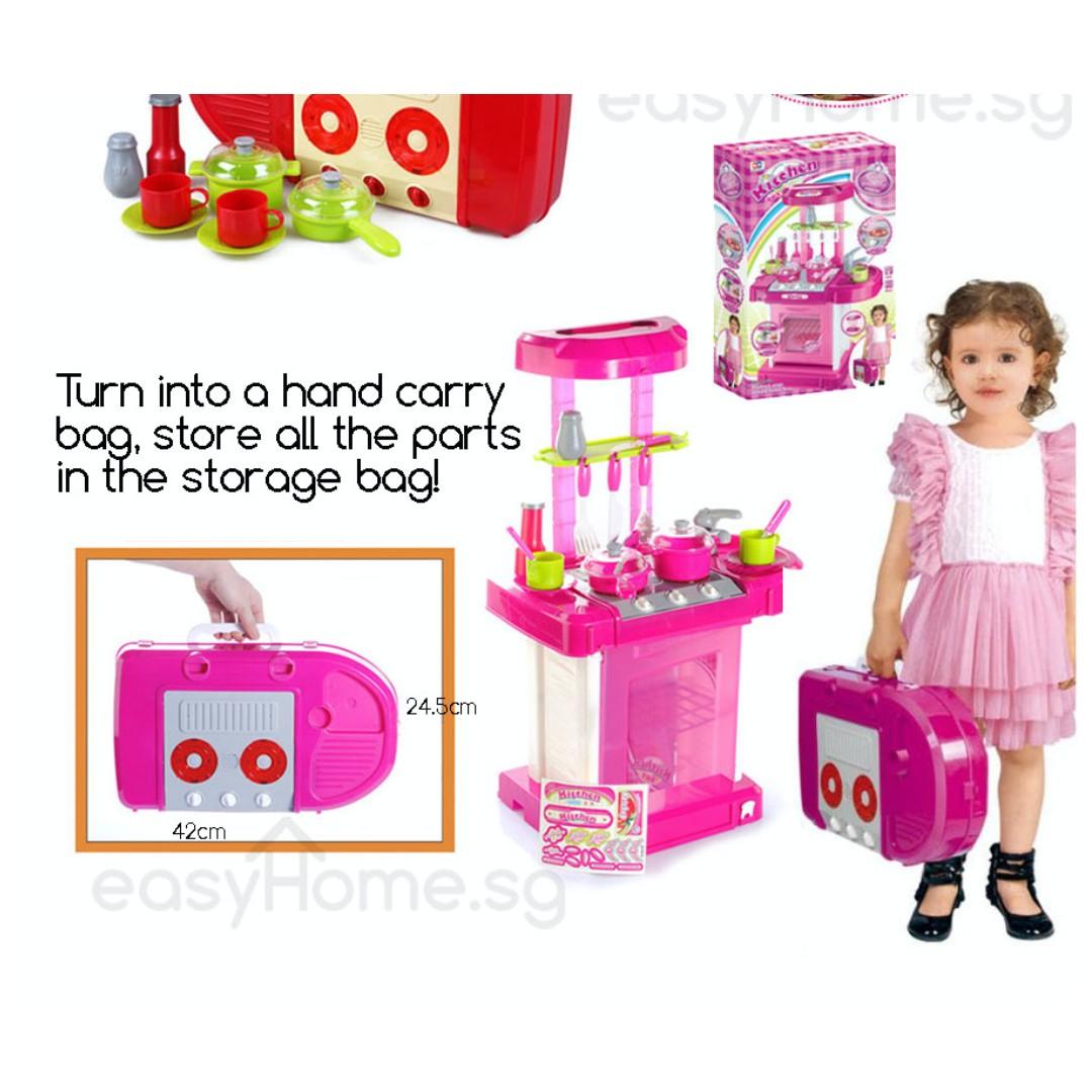 Play Kitchen Set Pink 008-58/ Red 008-58A (Kids baby children ...