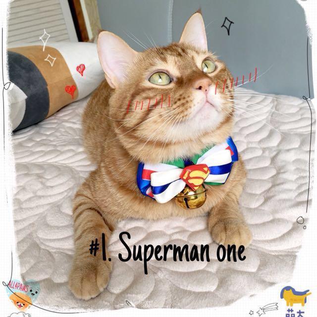 [PO] DOG CAT DC HERO EDITION BOW TIE