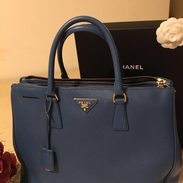 Prada湖水藍手提包(正品)