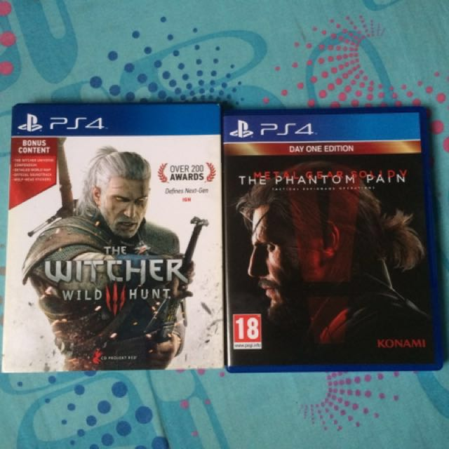 PS4 Games - The Witcher 3: Wild Hunt & MGSV The Phantom Pain