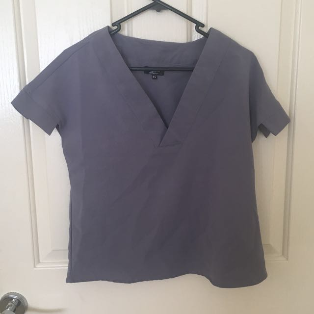 Purpley/Grey Top