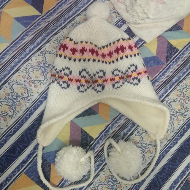 全新@冬天保暖罩耳QQ球辮子鋪毛毛帽