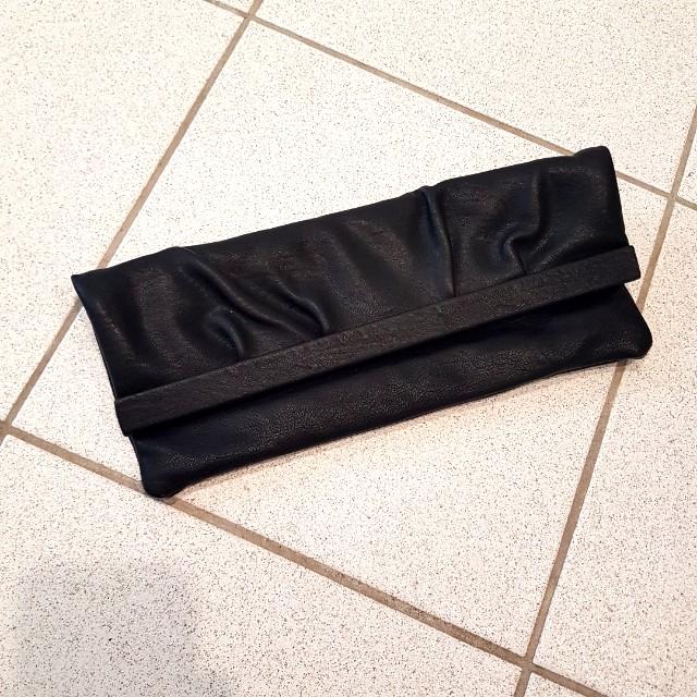 Rectangle long black clutch/ bag