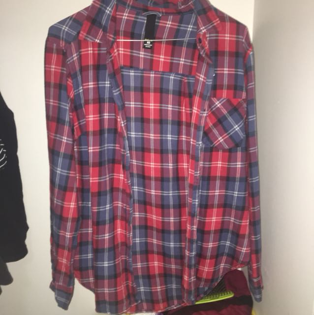 Red blue classic flannel