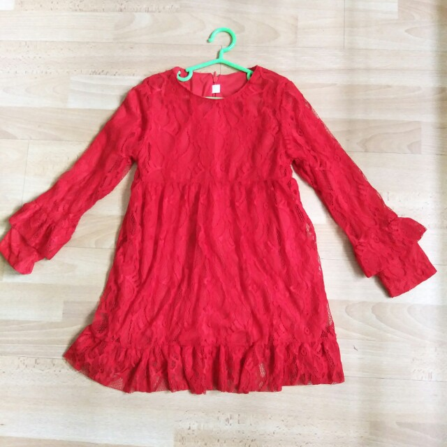 Red Dress BN for girls 5-6yo free normal mail