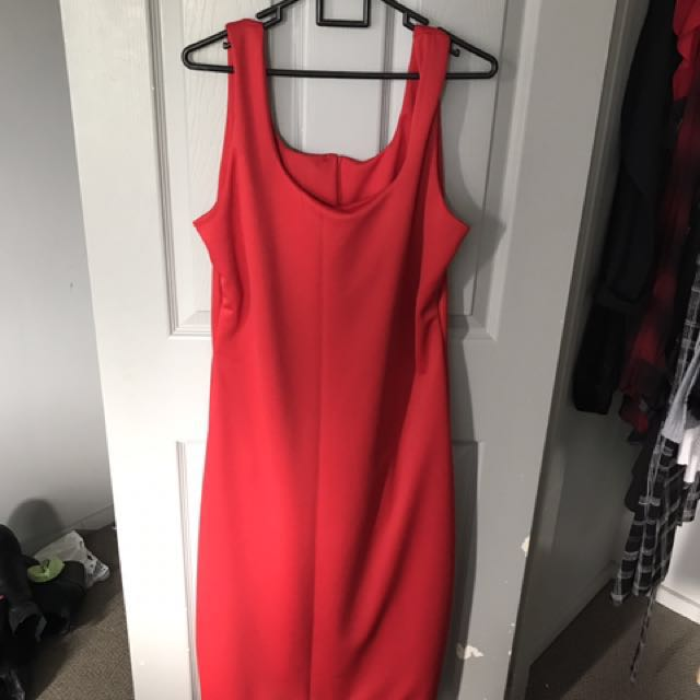 Red dress (never been worn) can fit 16-18
