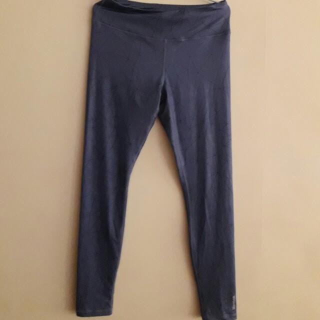 Reebok紫藍色運動貼身褲