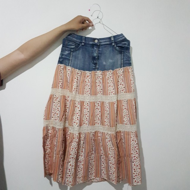 [FREE ONGKIR] Rok Semi Denim