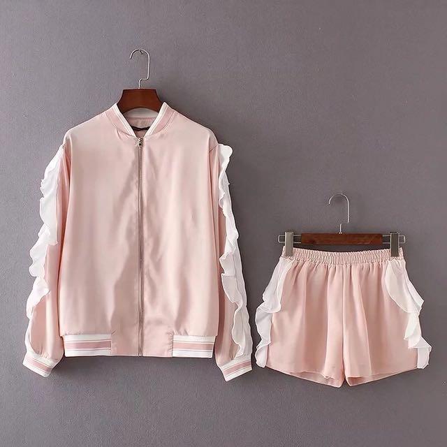 Ruffle Jacket & Short Set