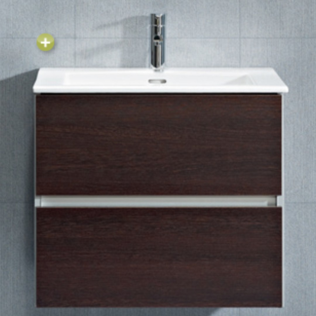 Sanitana CUBE wall-hung cabinet basin set