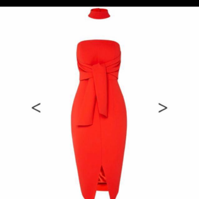 Sheike red dress, size 8. Worn once for 4 hours, beautiful, for lots of compliments