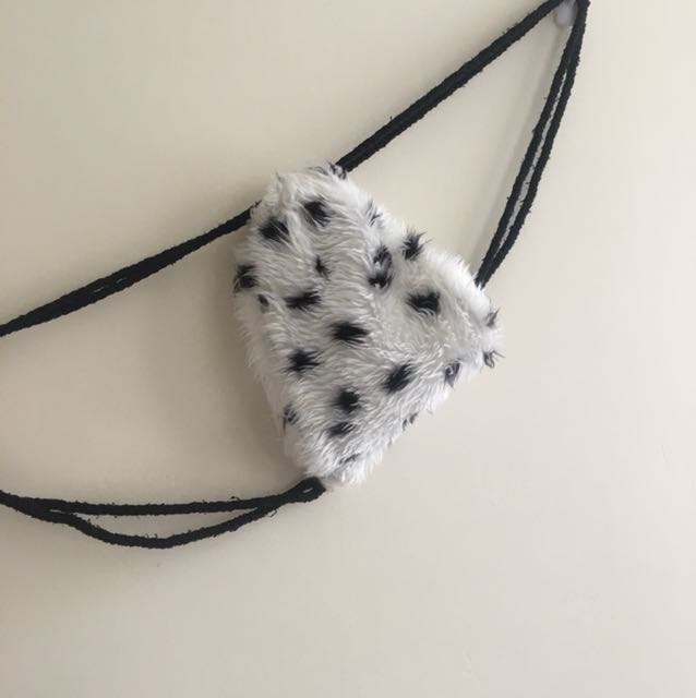 Small draw string fur backpack